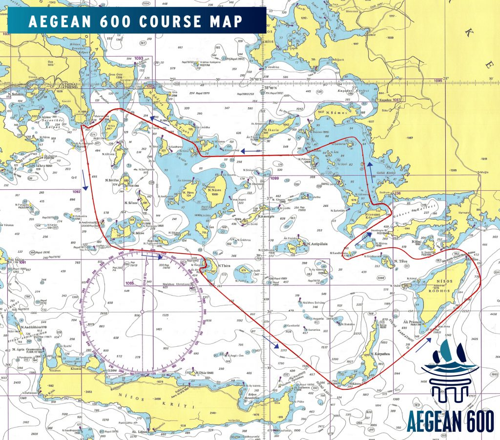 AEGEAN 600 COURSE MAP