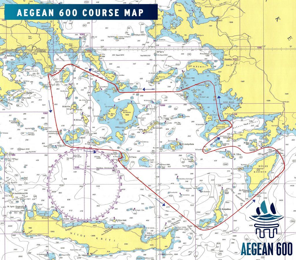 AEGEAN 600 COURSE MAP